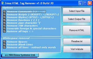 HTML Removal utility for Windows